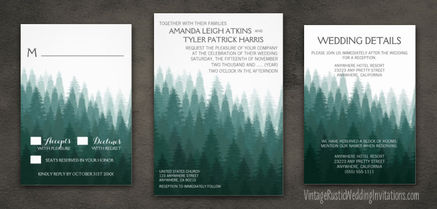 rustic-evergreen-pine-tree-wedding-invitations-set
