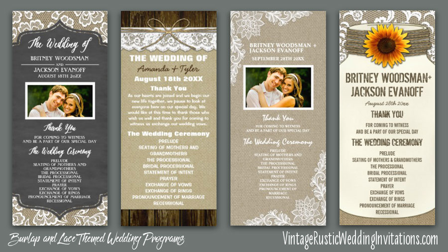 burlap-and-lace-wedding-ceremony-programs