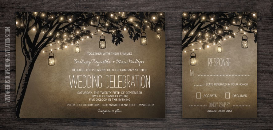 mason jar wedding invitations  page  of   vintage rustic, Wedding invitations