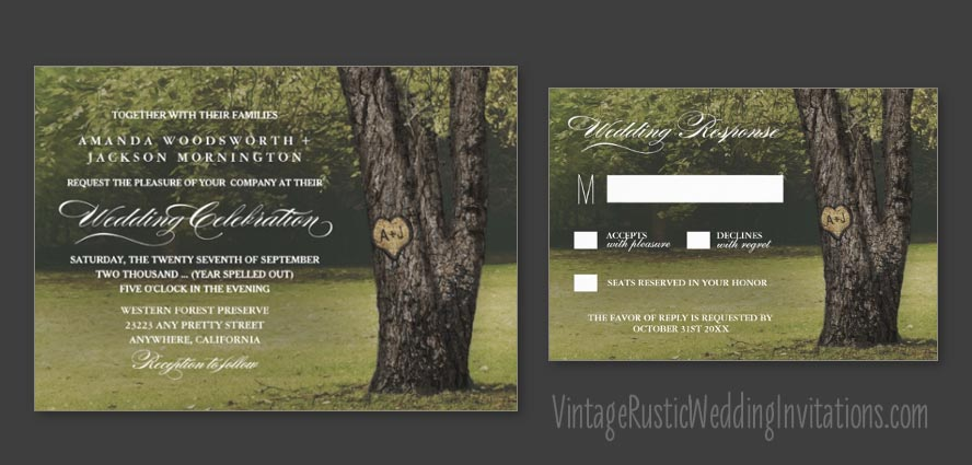 carved-initials-rustic-country-oak-tree-wedding-invitations-set