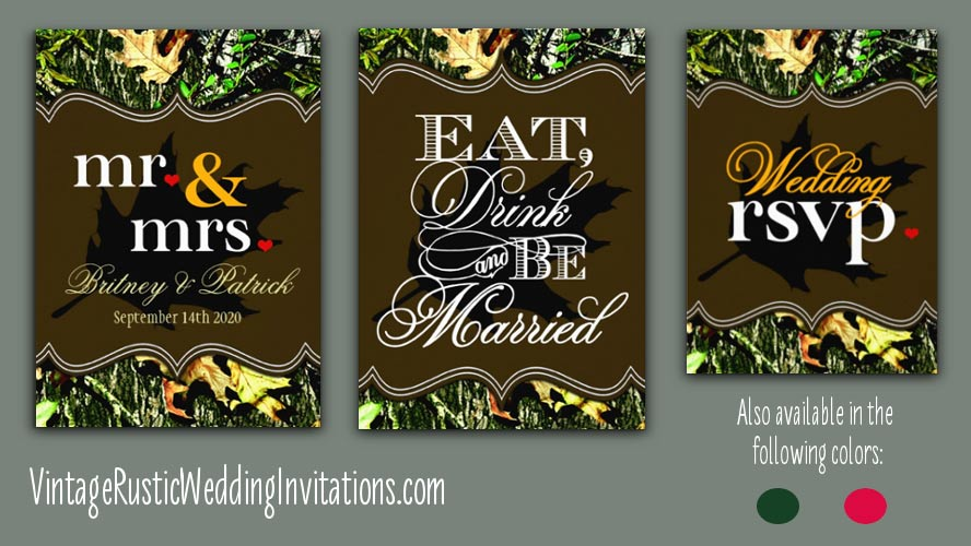 Hunting Camo Wedding Invitations Collection