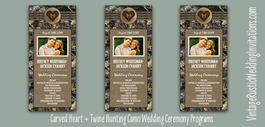 carved-heart-hunting-camo-wedding-programs